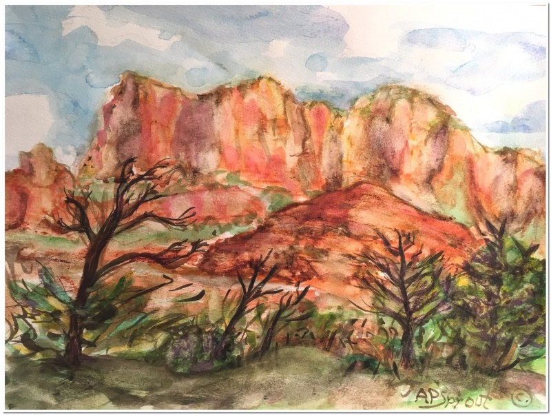 Sprout, Sedonascape I watercolor